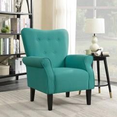 Living Room Arm Chair Portable Chairs Shop Belleze Modern Wingback Armchair Accent High Back Linen Mallard Teal