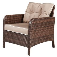 Cushions For Wicker Chairs Bedroom Chair Shabby Chic Shop Costway 5 Pcs Rattan Furniture Set Sofa Ottoman W Brown Cushion Patio Garden Yard As Pic Free Shipping Today Overstock Com 16501359