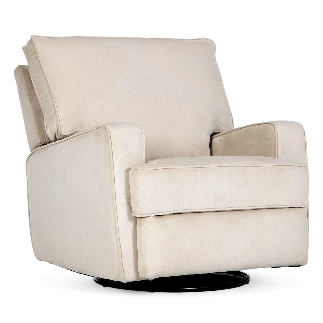 Swivel Living Room Chairs Belleze Swivel Glider Recliner Padded Backrest W Extra Cushion Linen Living Room Chair