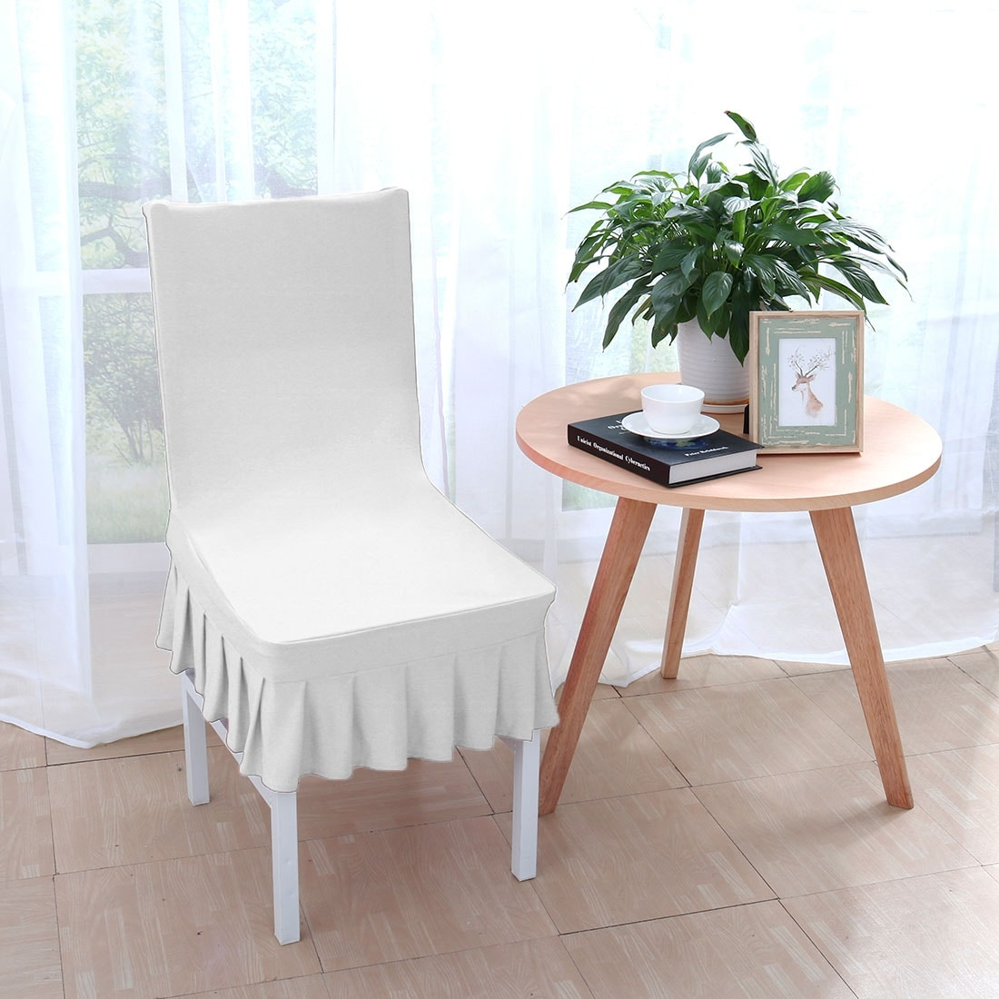 chair covers for dining room ergonomic desk shop christmas stretchy thicken plush short seat protector slipcover