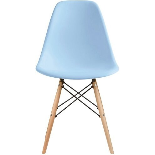 eiffel chair wood legs aeron posturefit shop 2xhome set of 2 blue plastic chairs solid dining free shipping today overstock com 19874287