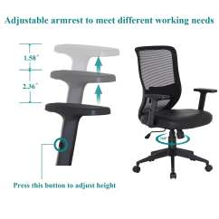 Adjustable Desk Chairs Ikea Ceiling Chair Shop Office Pu Cushion Swivel Mesh Free Shipping Today Overstock Com 12605503