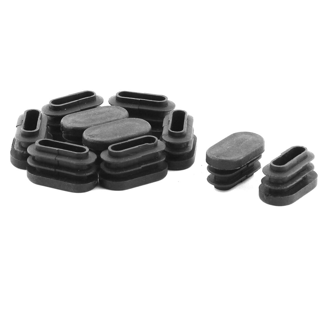 Caps For Chair Legs Home Chair Legs Plastic Flat Base Tube Pipe Inserts End Caps Black 10 Pcs
