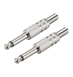 shop 6 35mm mono male jack solder connector audio video cable adapter zinc alloy 2pcs on sale free shipping on orders over 45 overstock 27580155 [ 1100 x 1100 Pixel ]