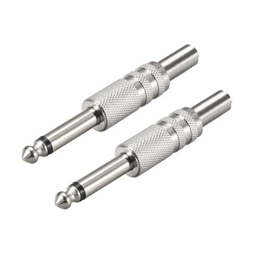 small resolution of shop 6 35mm mono male jack solder connector audio video cable adapter zinc alloy 2pcs on sale free shipping on orders over 45 overstock 27580155
