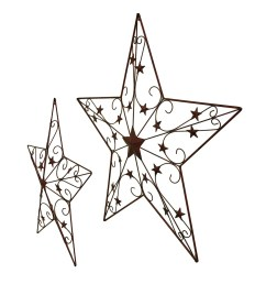 shop 2 piece cosmic scrolls rustic red decorative hanging metal barn star set 44 x 46 x 2 5 inches free shipping today overstock 16750584 [ 1059 x 1059 Pixel ]
