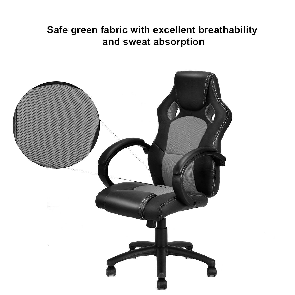 Racing Seat Office Chair Costway High Back Race Car Style Bucket Seat Office Desk Chair Gaming Chair Gray