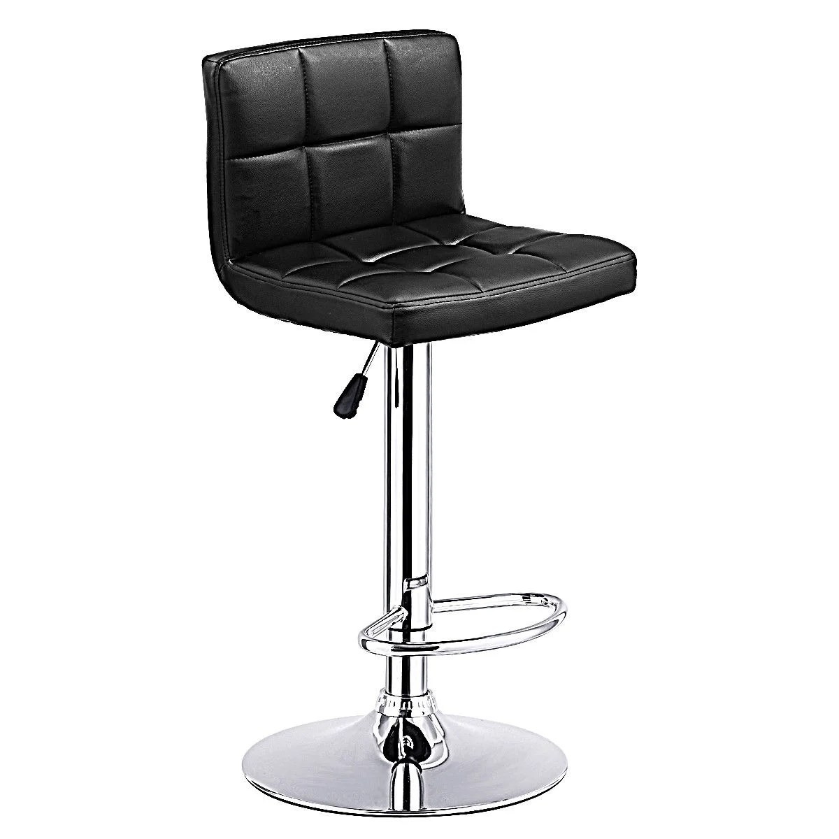 leather pub chair covers for sale ireland shop costway 1 pc bar stool swivel adjustable pu barstools bistro black