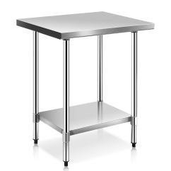 Stainless Steel Kitchen Table Countertops Home Depot Shop Costway 24 X 30 Work Prep Commercial Restaurant White