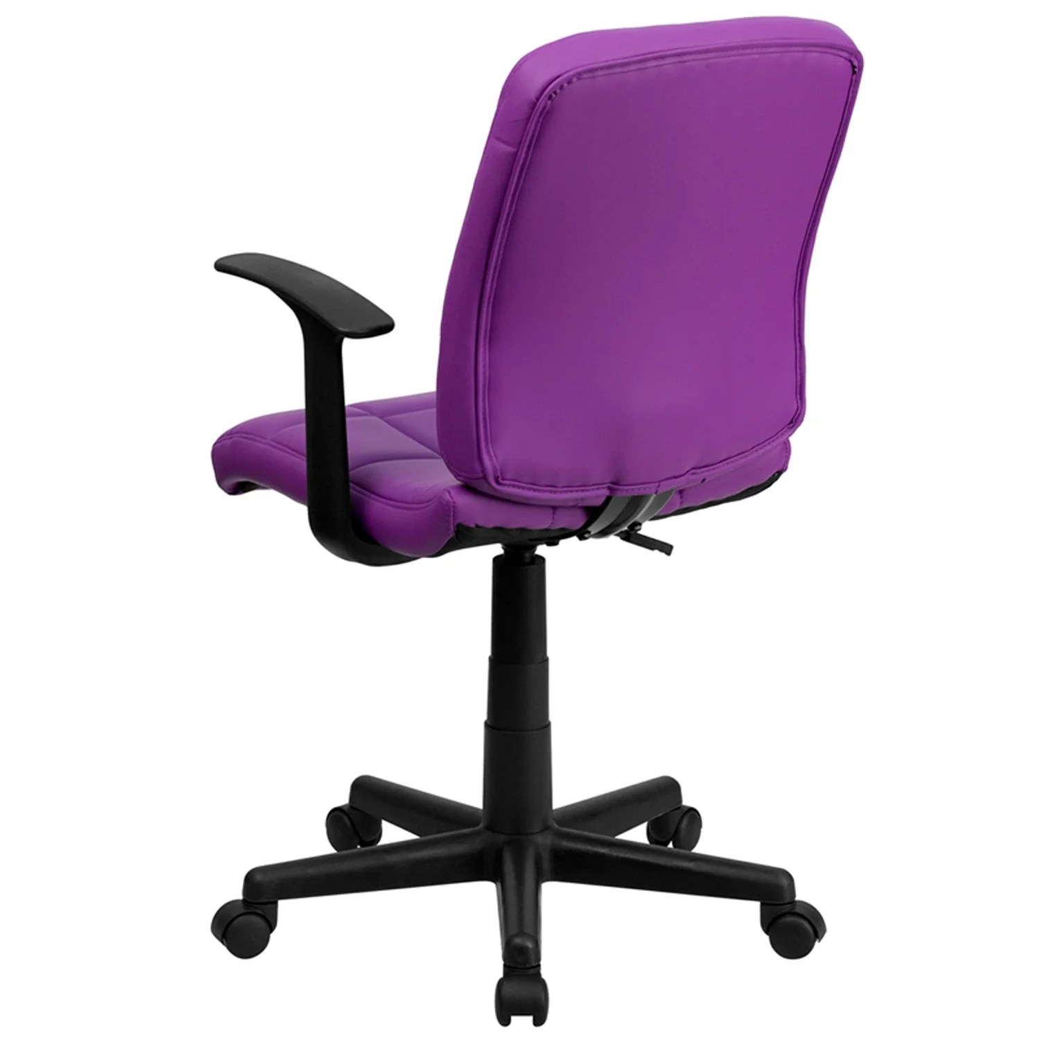 purple task chair folding camping picnic table and chairs shop aberdeen mid back quilted vinyl swivel home office w arms free shipping today overstock com 16627579