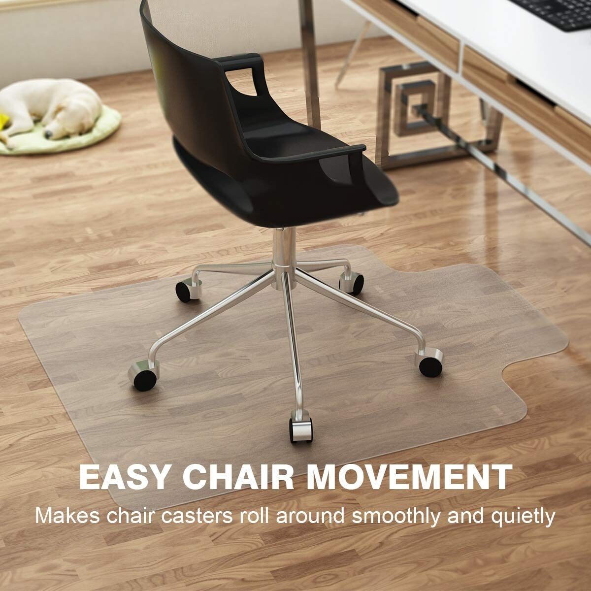 desk chair hardwood floor make your own rocking shop langria 36 x 48 large office mat with lip for floors nonstudded design transparent free shipping on orders over 45