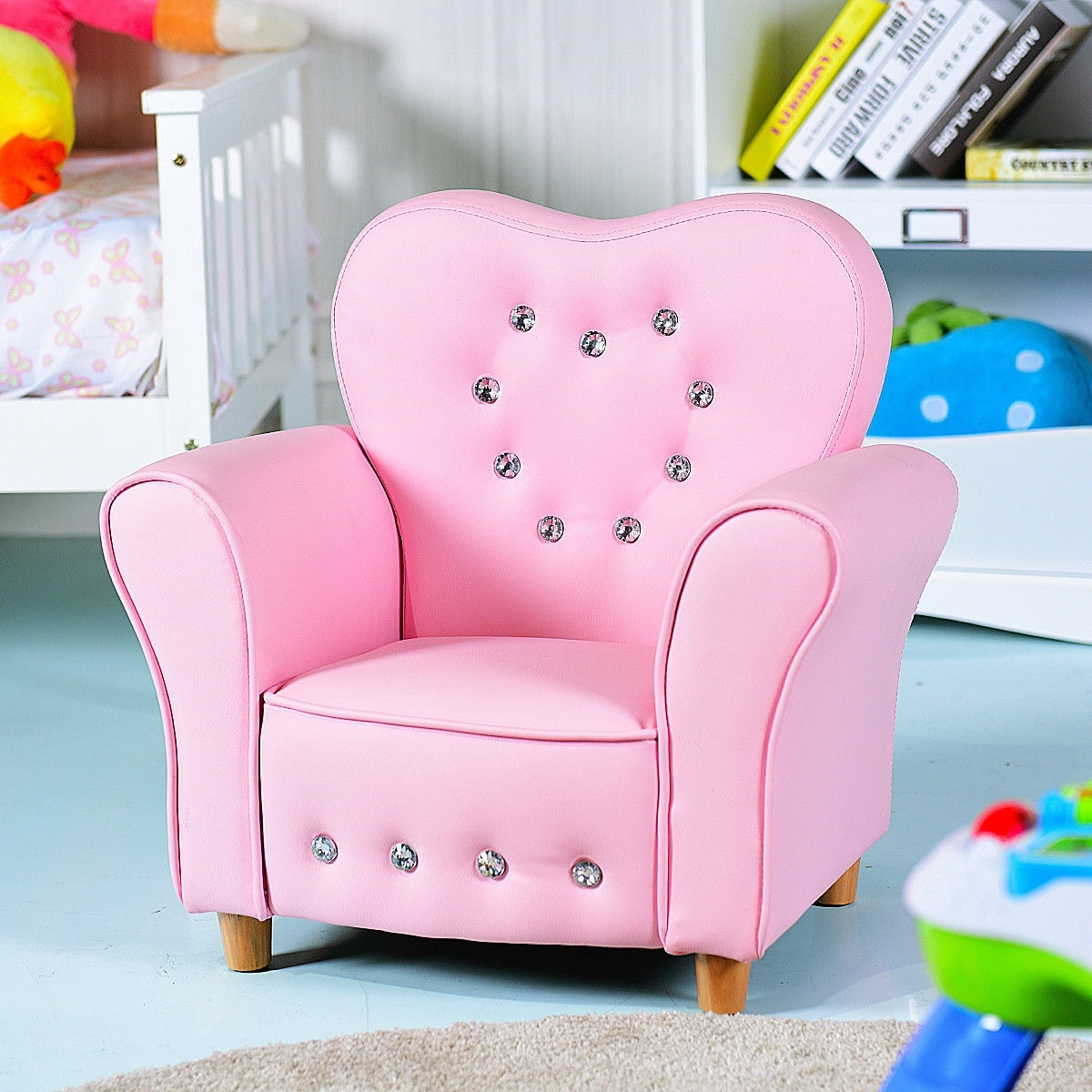 pink kids chair cheap lounge chairs for living room shop gymax teen sofa armrest couch children toddler birthday gift girls