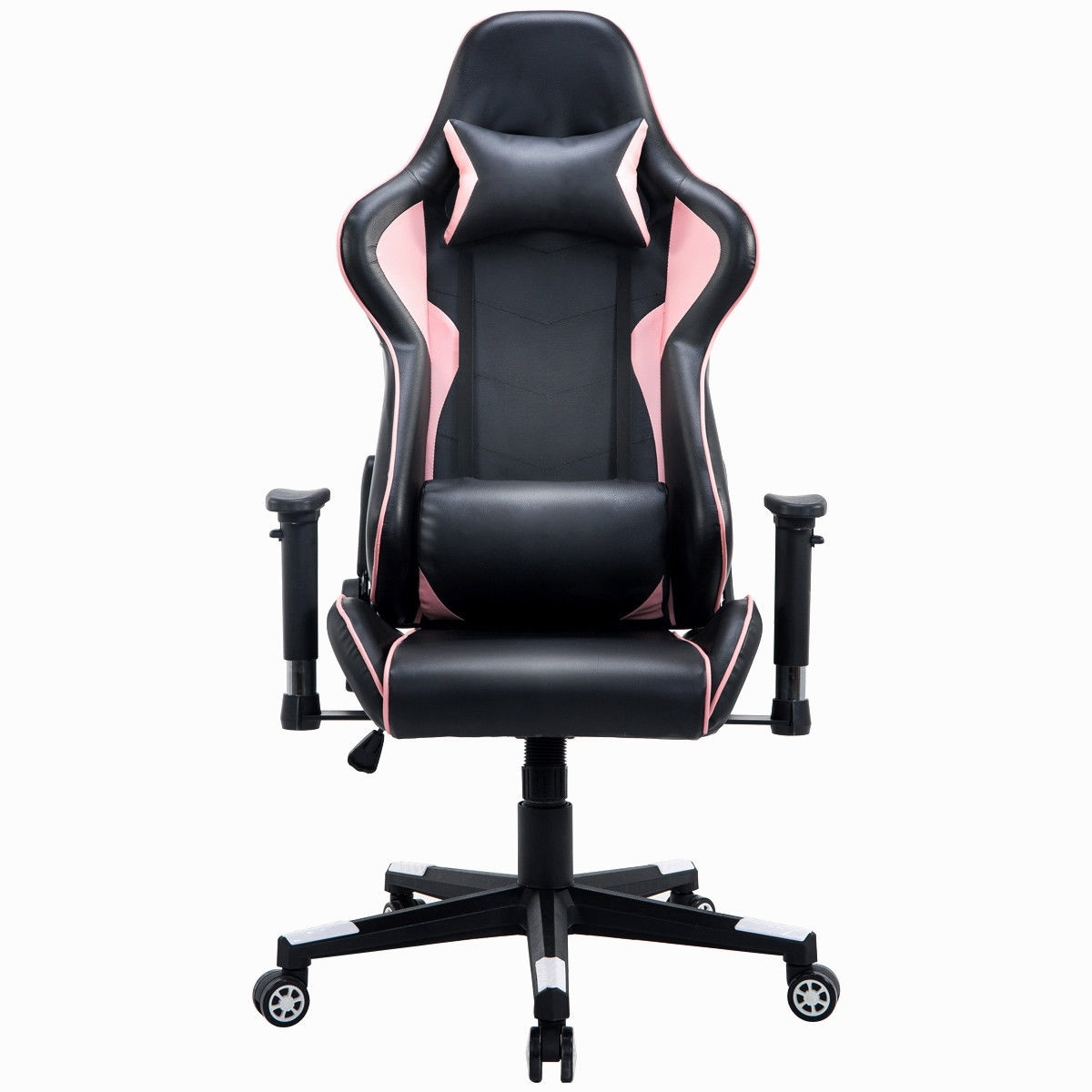 racing office chairs walmart transport chair shop costway executive gaming high back w lumbar support headrest black pink free shipping today overstock com