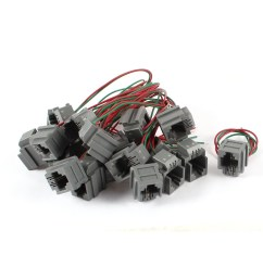 shop unique bargains 20 pcs 623k 6p2c rj11 socket telephone cable connector w 8 wire free shipping on orders over 45 overstock 18455889 [ 1100 x 1100 Pixel ]