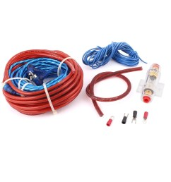 shop unique bargains 5 in 1 vehicle car audio battery copper cable amplifier wiring kit set free shipping on orders over 45 overstock 18250422 [ 1100 x 1100 Pixel ]