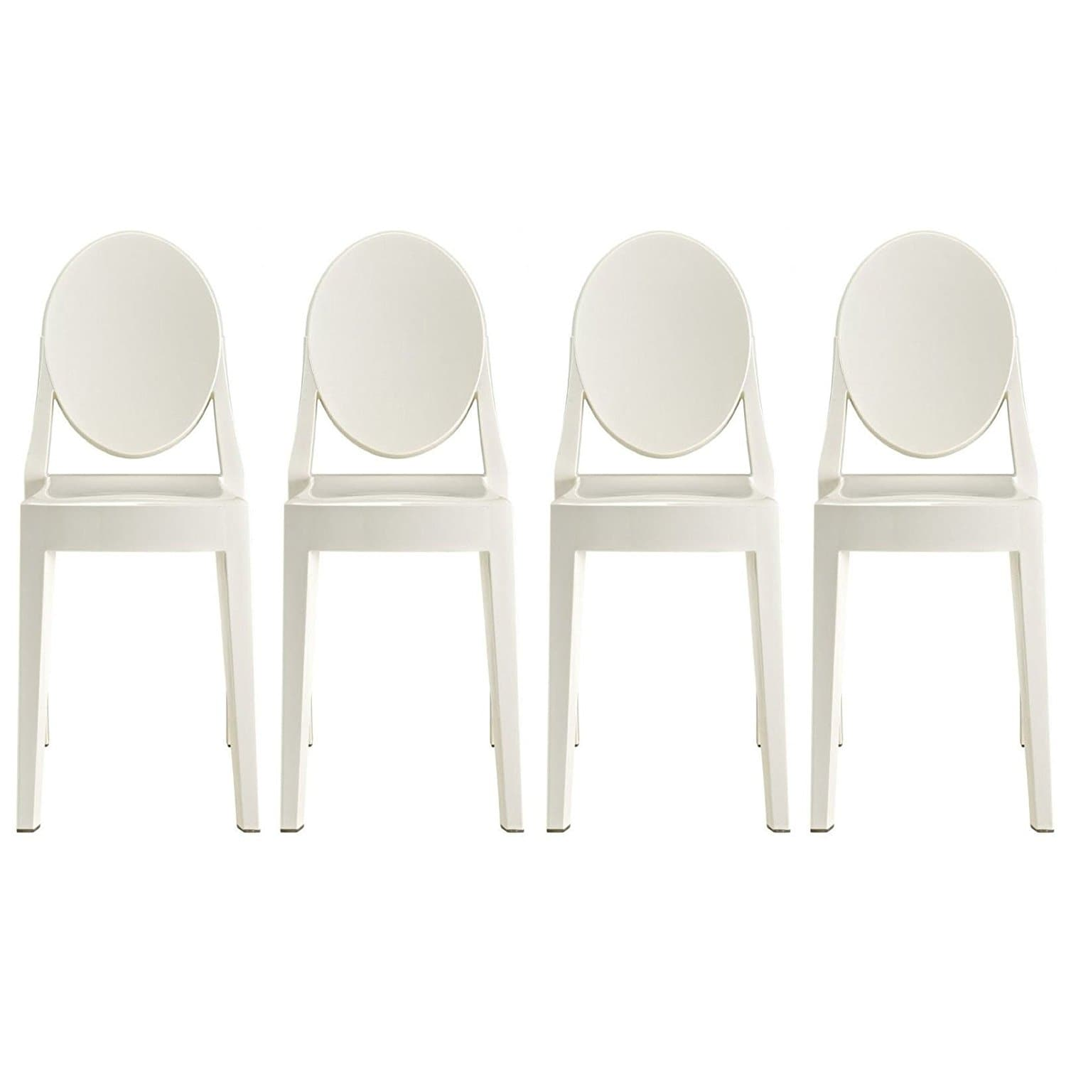 white plastic dining chairs slipcovers for shop 2xhome set of 4 standard size modern