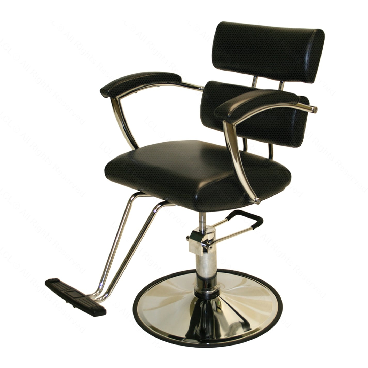 Hydraulic Styling Chair Lcl Beauty Contemporary Black Hydraulic Barber Styling Chair With Padded Armrests