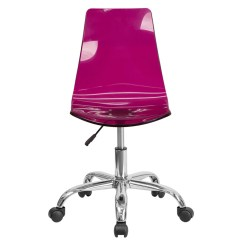 Purple Task Chair Eames Lounge Cushions Shop Bridgettine Mid Back Transparent Acrylic Swivel Home Office Free Shipping Today Overstock Com 16627515