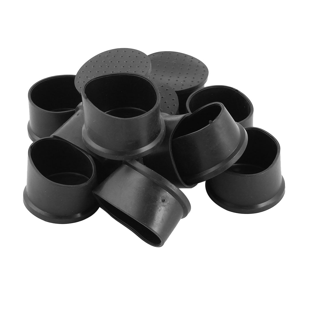 Chair Foot Caps Home Rubber Furniture Chair Table Foot Cover Pad Caps Black 50mm Hole Dia 12 Pcs