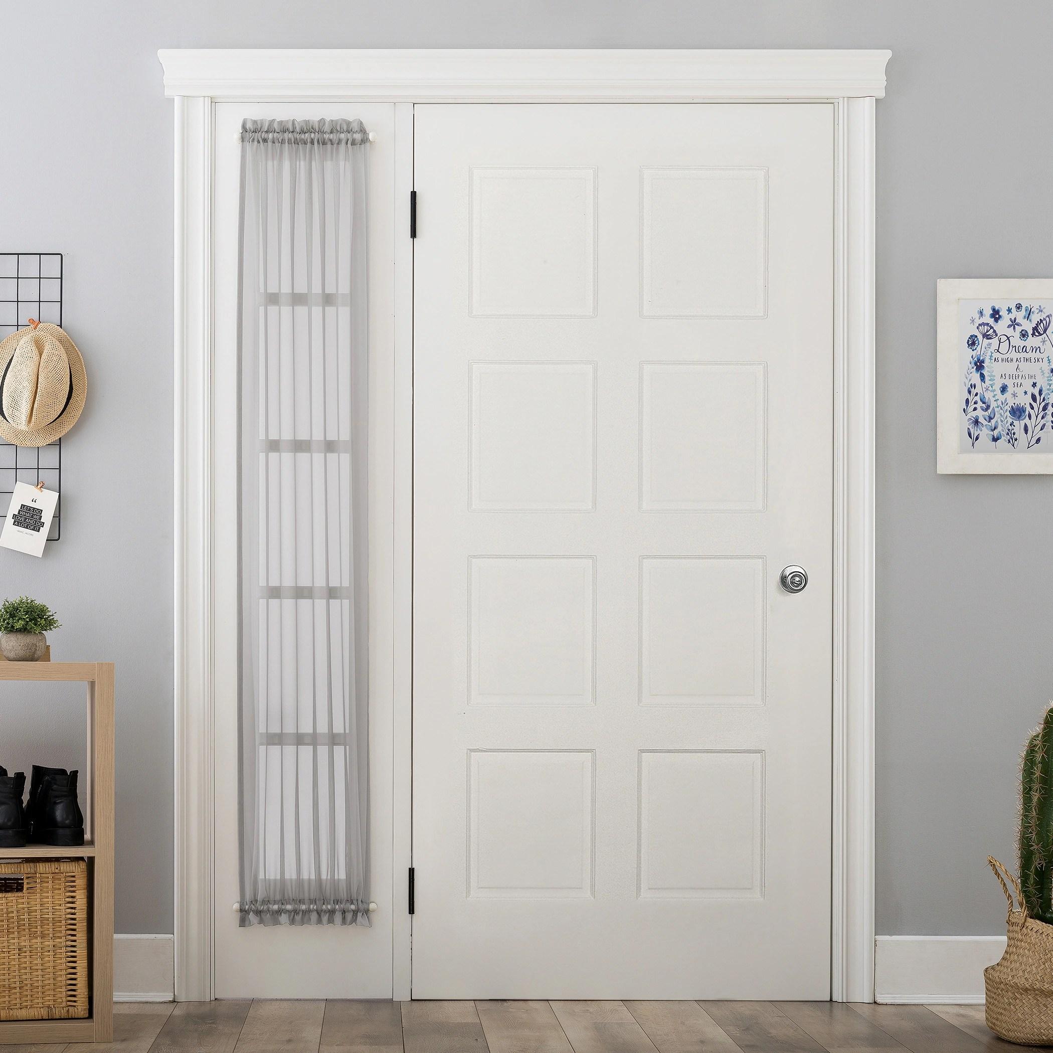 no 918 emily voile sheer rod pocket door sidelight curtain panel