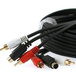 shop cmple 351 n s video amp 2 rca audio cable combo gold plated w 100ft free shipping today 27475435 [ 1248 x 1248 Pixel ]