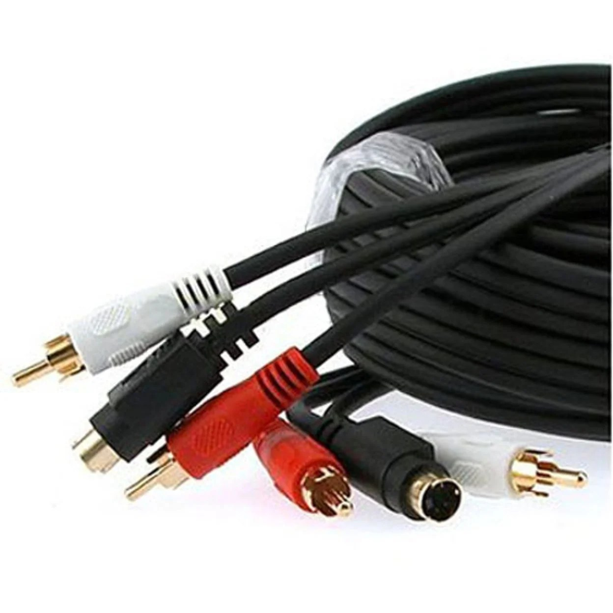 hight resolution of shop cmple 351 n s video amp 2 rca audio cable combo gold plated w 100ft free shipping today 27475435
