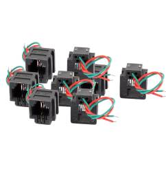 shop 8 pcs rj11 6p2c 6 position pcb gray network modular female connector w 2 wires free shipping on orders over 45 overstock 18355860 [ 1100 x 1100 Pixel ]