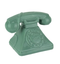 shop money talks vintage rotary phone ceramic coin bank 4 75 x 6 5 x 4 25 inches free shipping on orders over 45 overstock 22127956 [ 989 x 989 Pixel ]
