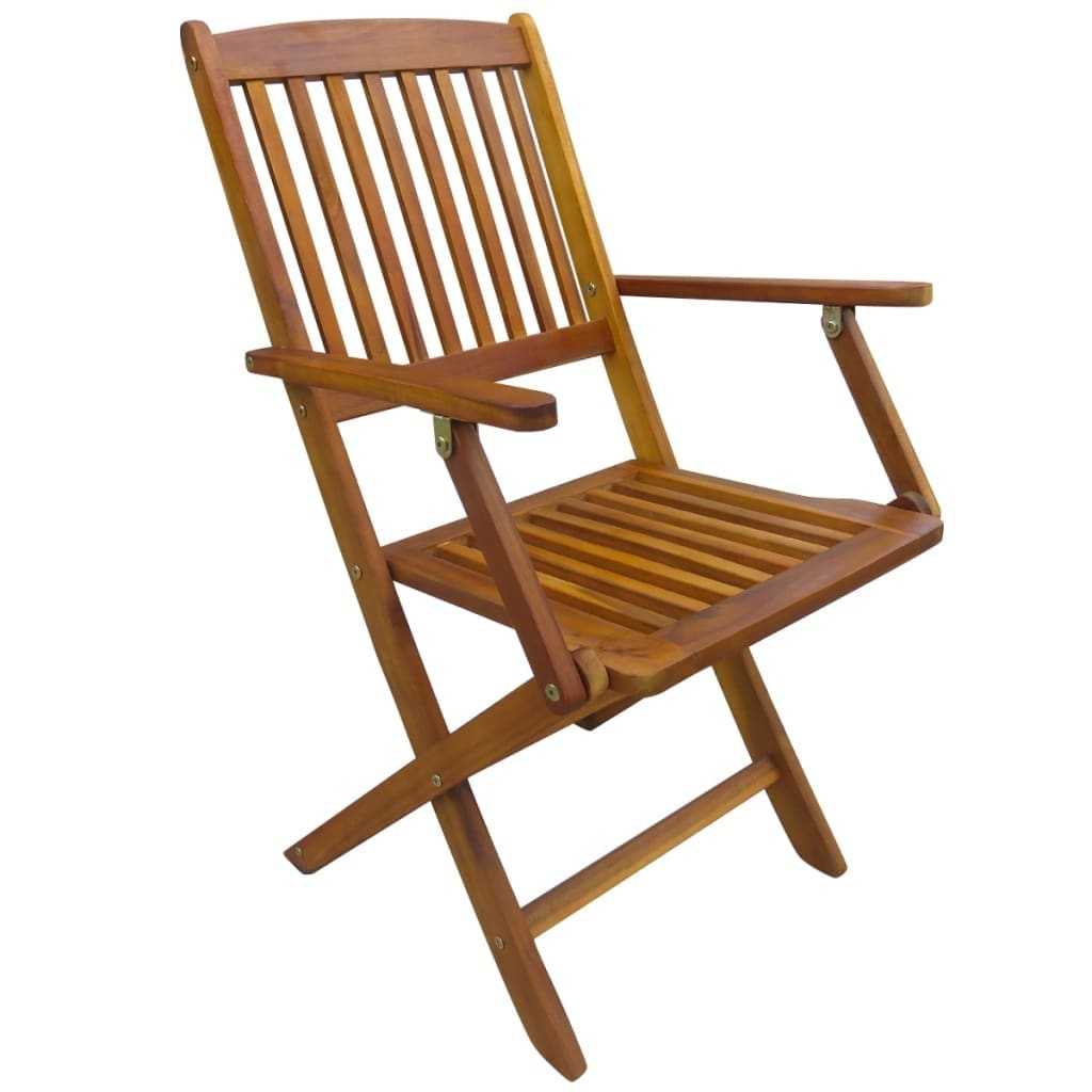 Foldable Dining Chairs Vidaxl 2x Outdoor Dining Chair Folding Solid Eucalyptus Wood Garden Patio Seat