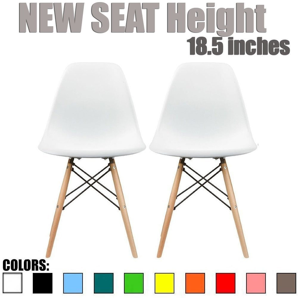 eiffel chair wood legs steel used in wwe shop 2xhome set of 2 designer plastic chairs bedroom kitchen desk living room dining