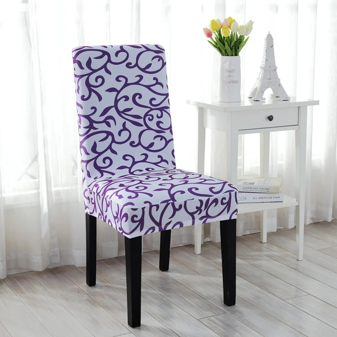 stretch dining chair covers sets of 4 shop stretchy cover short washable protector