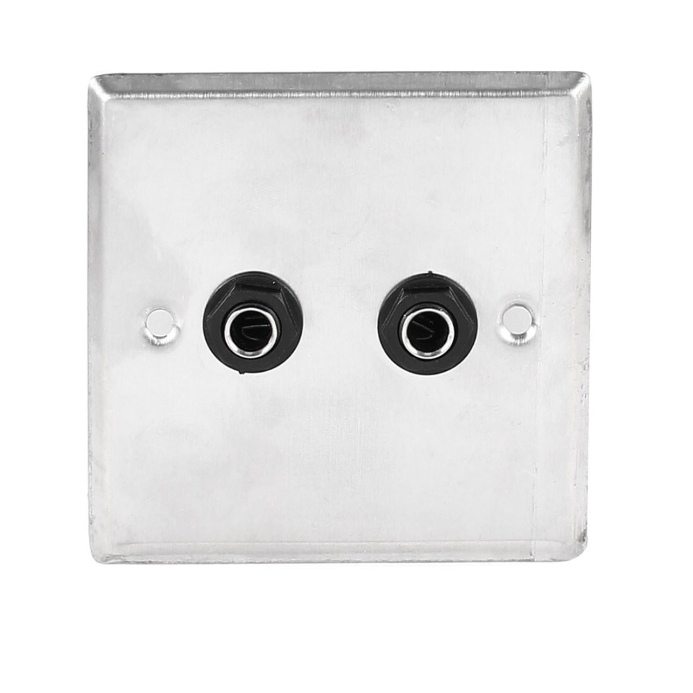 medium resolution of shop unique bargains speaker dual black solder 6 35mm 1 4 socket metal wall plate panel 85x85mm on sale free shipping on orders over 45 overstock
