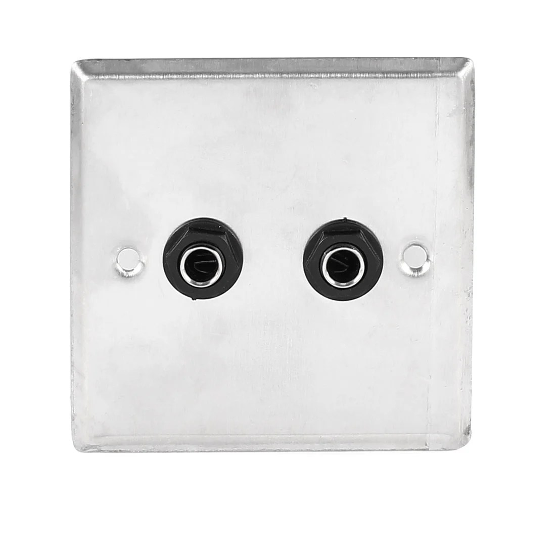 hight resolution of shop unique bargains speaker dual black solder 6 35mm 1 4 socket metal wall plate panel 85x85mm on sale free shipping on orders over 45 overstock