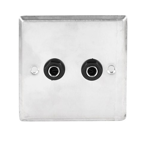 small resolution of shop unique bargains speaker dual black solder 6 35mm 1 4 socket metal wall plate panel 85x85mm on sale free shipping on orders over 45 overstock
