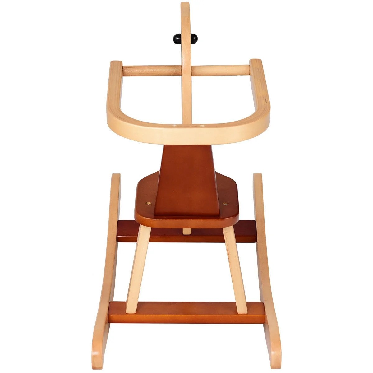 Toddler Wooden Chair Gymax Baby Kids Toy Wooden Rocking Horse Animal Rider Chair Bar Security Boys Girls As Pic