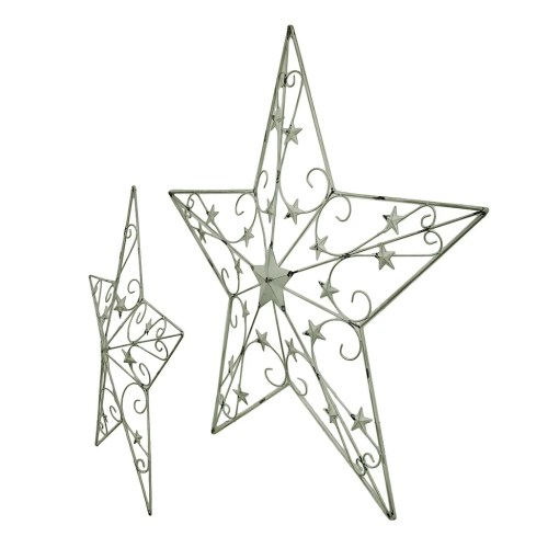 small resolution of shop 2 piece white rustic cosmic scrolls decorative hanging metal barn star set free shipping today overstock 16751015
