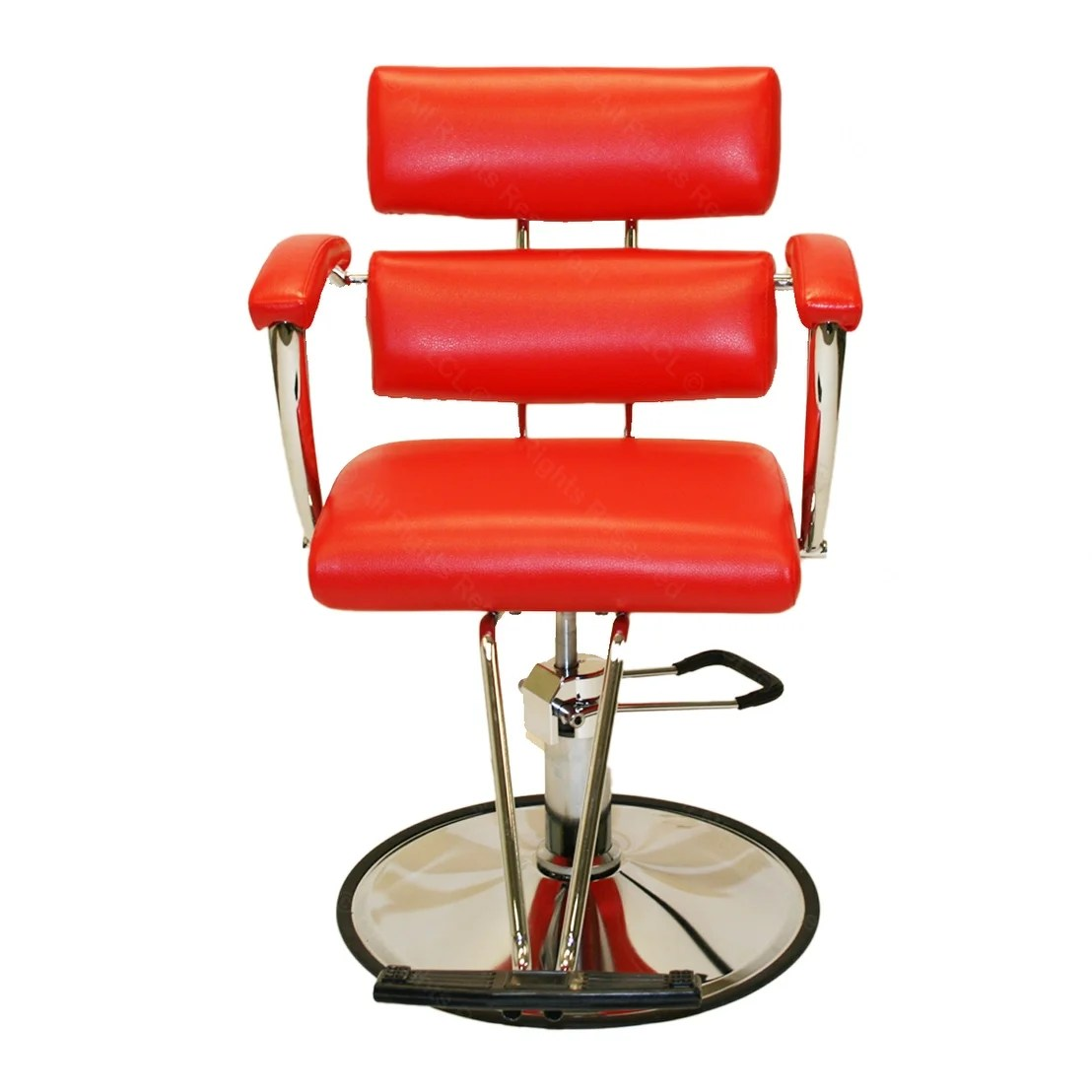 Red Barber Chair Lcl Beauty Contemporary Red Hydraulic Barber Styling Chair With Padded Armrests