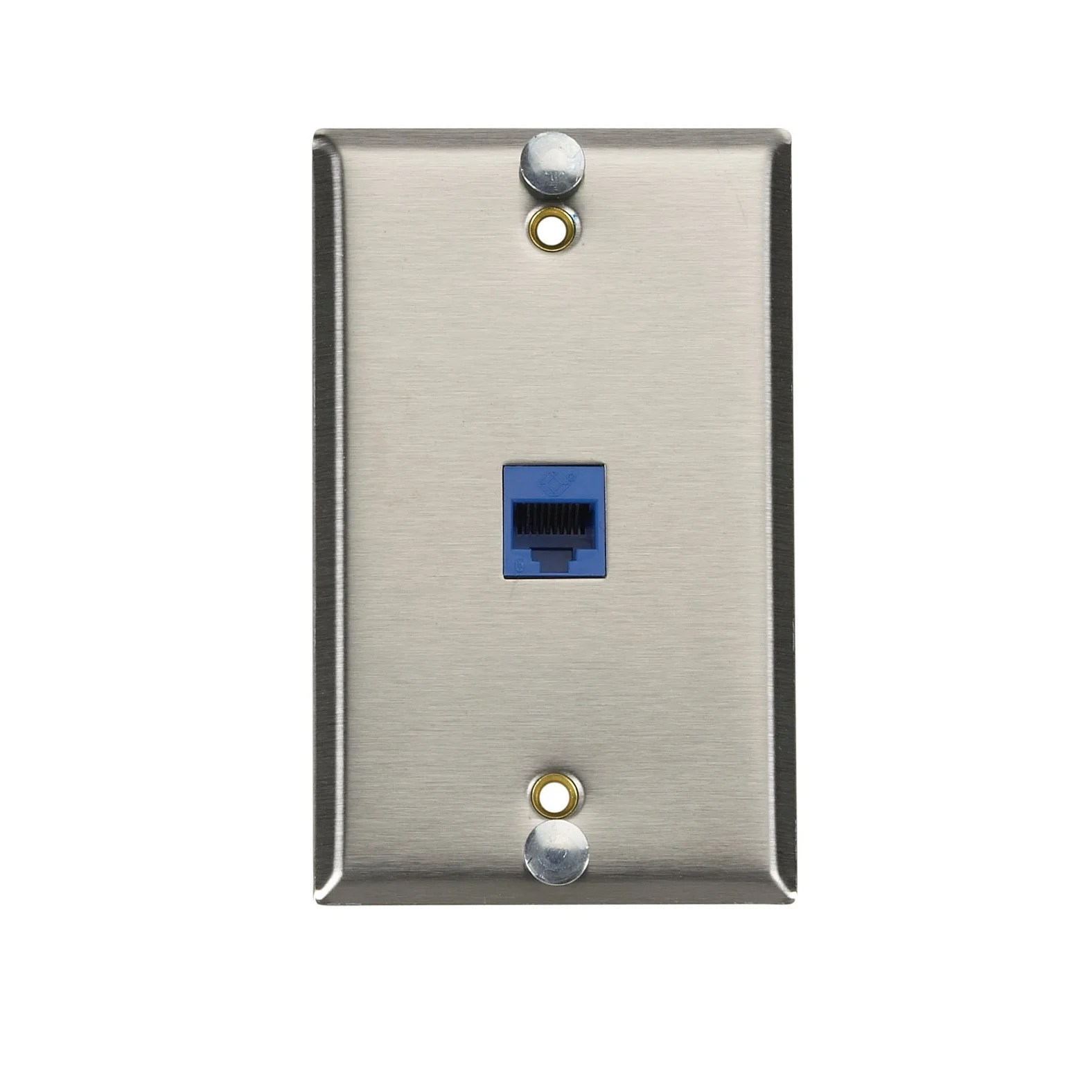 hight resolution of shop black box network services cat6 voip wall phone jack free shipping today overstock com 21467874