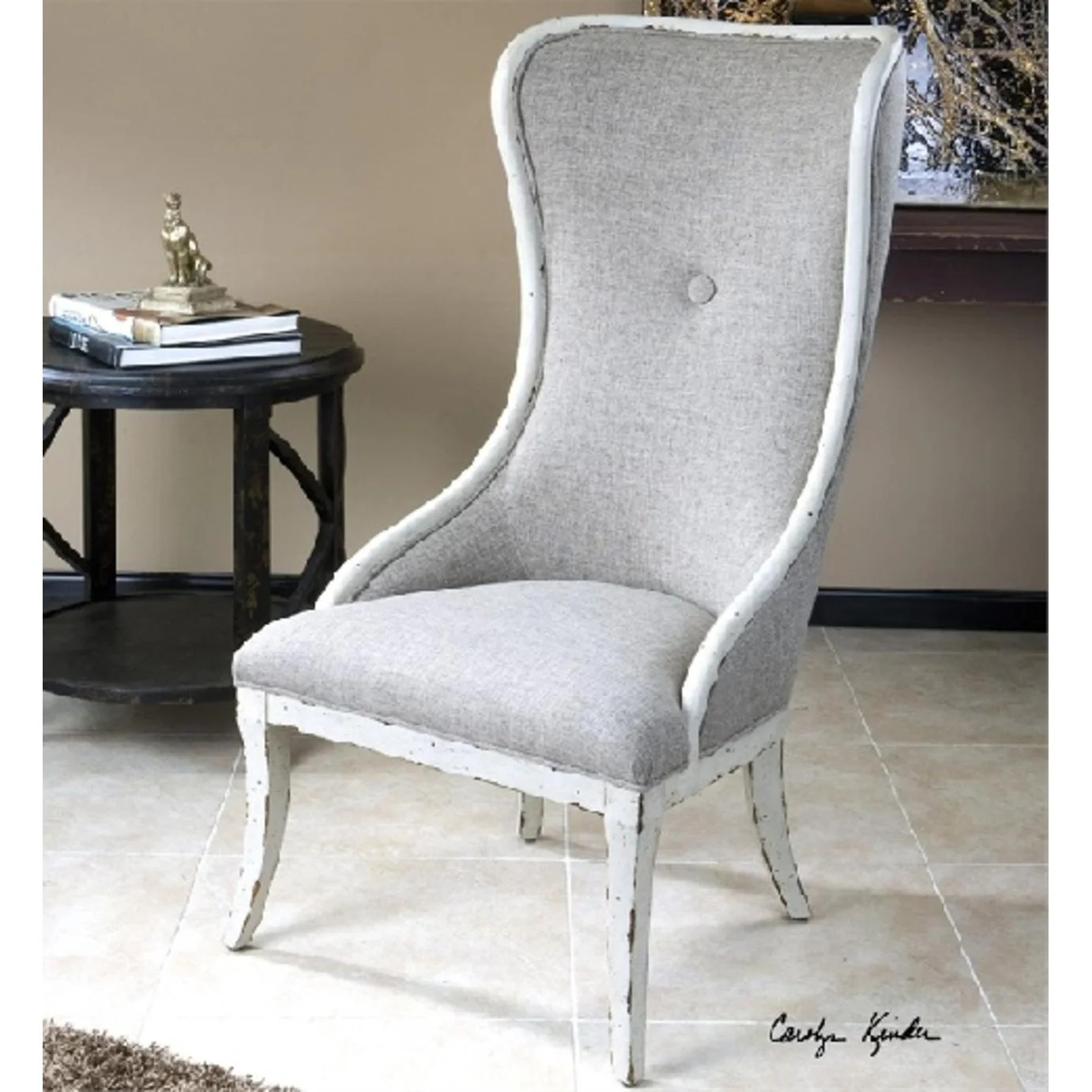 White Wing Chair 47 5