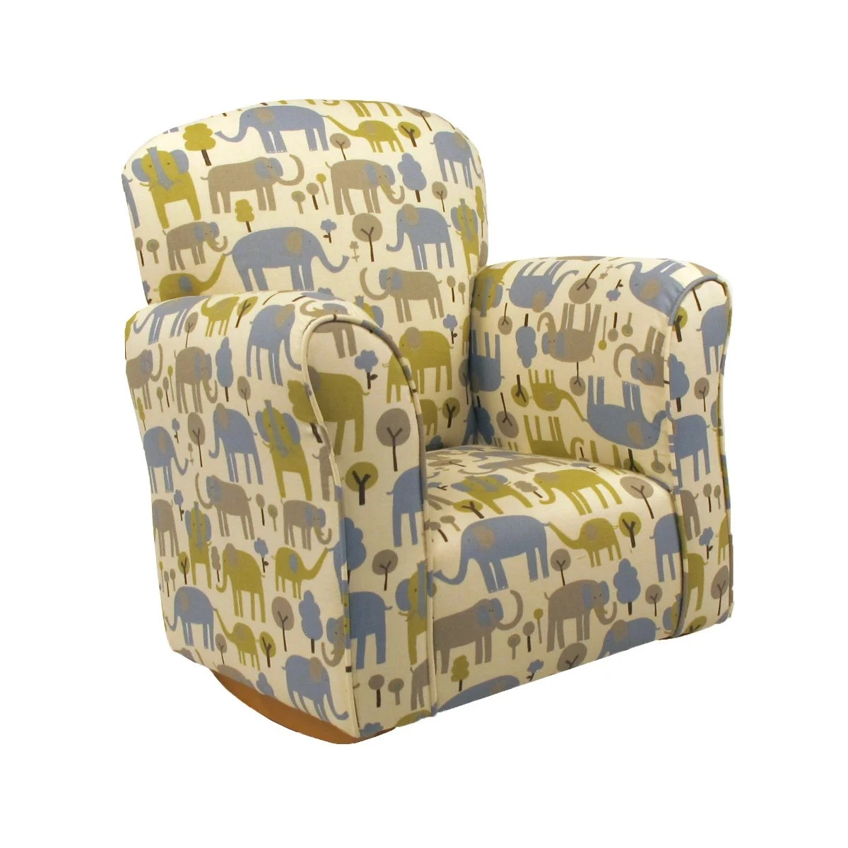 Toddler Upholstered Rocking Chair Trunk Tales Cotton Toddler Rocker Cotton Rocking Chair