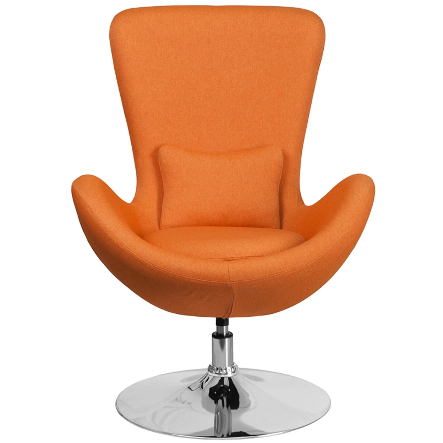 Orange Office Chairs Radisson Orange Fabric Side Office Reception Guest Egg Chair Curved Arms