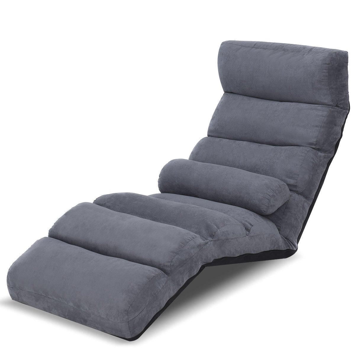 Floor Lounge Chair Gymax Adjustable Floor Chair Beds Lounge Chair Folding Lazy Sofa Gray