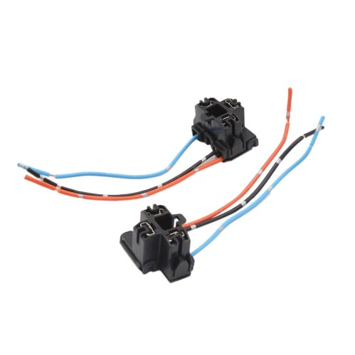 small resolution of shop 2pcs plastic 3 terminal car h4 headlight fog lamp bulb wiring harness socket on sale free shipping on orders over 45 overstock 17597655