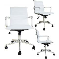 Chair With Wheels Panton S Chairs Shop Mid Century Office Ergonomic Executive Pu Leather Arm Rest Tilt Adjustable Height Swivel Task Computer White