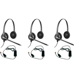 shop plantronics supra plus hw261n with a10 adapter 3pack dual earpiece wideband headset ships to canada overstock 20750550 [ 1000 x 1000 Pixel ]