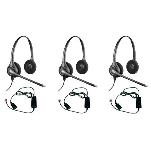 small resolution of shop plantronics supra plus hw261n with a10 adapter 3pack dual earpiece wideband headset ships to canada overstock 20750550