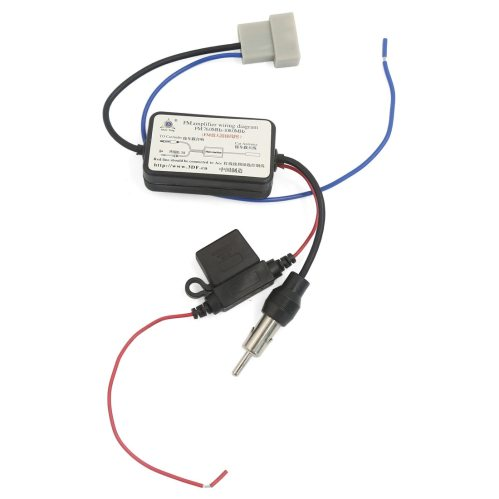 small resolution of car pre wired fm radio aerial antenna signal amplifier booster fits for nissan