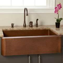 Copper Kitchen Sink Granite Tile Countertops Shop Signature Hardware 305572 Fiona 36 Farmhouse Single Basin Antique N A Free Shipping Today Overstock Com 20339309