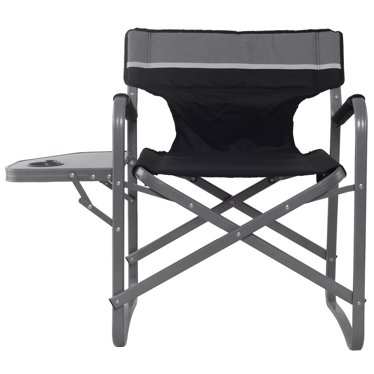 Folding Director Chair Gymax 2pc Folding Director Chair W Side Table Cup Holder