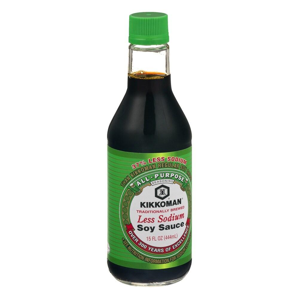 kikkoman soy sauce less